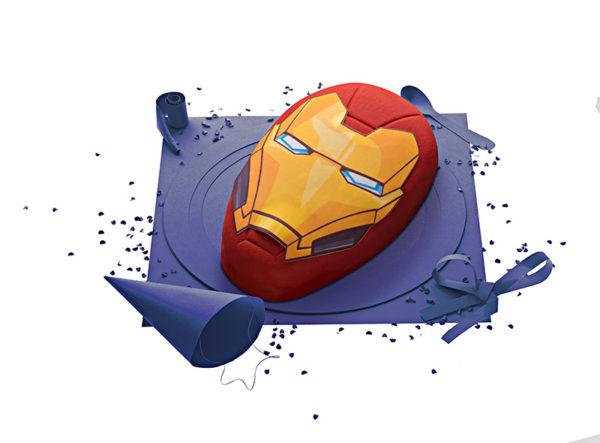 Gâteau Avengers Iron Man