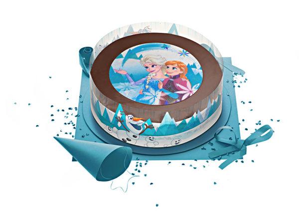 Gâteau La Reine des Neiges