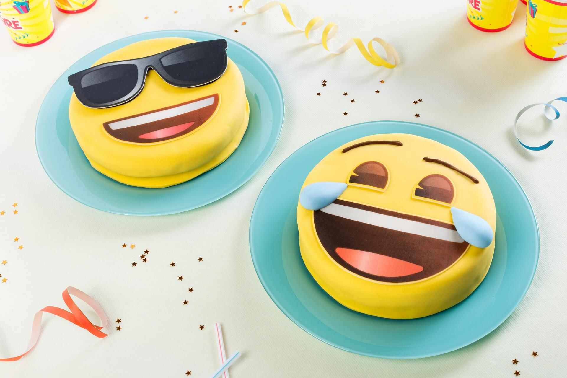 Gâteau anniversaire Emoji